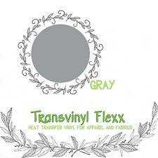 "Heat Transfer Vinyl for T-Shirts - 15"" Gray :)"