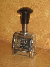Rexel 4, 1/2 M/M Numbering Stamp Stamper Vintage Made In England Desk Office