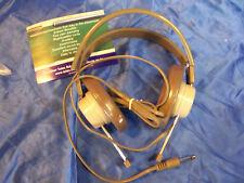 "TELEX 610 MONO HEADPHONE 1/4"" NEW brown grey for School METAL DETECTOR Ham Radio"