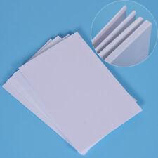 PVC Blanc Plaque Pour DIY Fabriquer Modèle Batîment Manuel Accessoire Partie