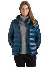 Giacca da donna blu petrolio con cappuccio North Sails manica lunga piumino