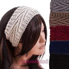 Fascia donna capelli tricot maglia cerchietto cappello caldo nuovo FA-01