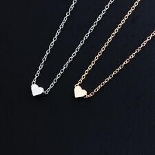 925 Silber Gold Halskette Herz Anhänger Kette Damenkette Hänger