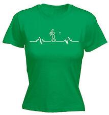 Cricket Heart Beat Pulse WOMENS T-SHIRT Sport Accessories Stump Gift birthday