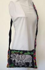 Hmong Handmade Ethnic EmbroideredElephant Shoulder Bag Fair Trade