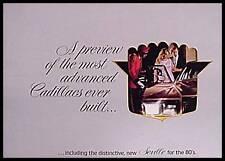 1980 Cadillac Brochure- Eldorado Fleetwood Seville!