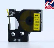 CARTUCCIA NASTRO 1-12x d1 40918 Nero/Giallo 9mmx7m per stampante DYMO LABEL MANAGER