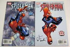 Peter Parker Spider-Man #54 & #55 Both Signed:Wayne Faucher Marvel Comics 2003