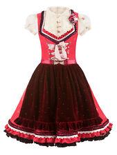 Lola Paltinger Couture Dirndl Tiffany rot-bordeaux Couture Samtschürze Rüschen
