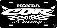 Custom Vinyl-Aluminum Licence Plate/Tag Honda CBR Motorcycle Racing 600/900/1000