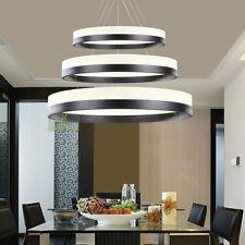 LED Modern Ring Pendant Lamp Circles Chandelier Dining Room Lobby Light Lighting