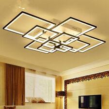 Rectangular led living room lighting creative bedroom Dining Room light Fixtures