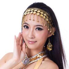 Women Belly Dance Dancing Coins Tassels Gypsy Headband Head Band Head Chain
