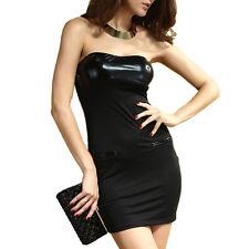 Abito fascia donna vestito bandeau sera vestitino party abito bustier nero