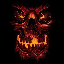 Skull Skeleton Flames Burning Fire Cool T-Shirt Tee