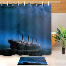 Waterproof Luxury Titanic Giant Cruise Ship Shower Curtain Bathroom Decor Mat