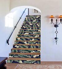 3D Bougainvillea Stair Risers Decoration Photo Mural Vinyl Decal Wallpaper AU