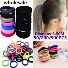 Lot 50/500Pcs Women Hair Band Ties Rope Ring Elastic Hairband Ponytail Holder