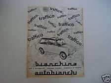 advertising Pubblicità 1963 BIANCHINA