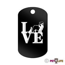 Love Australian Shepherd Engraved Keychain GI Tag dog park aussie