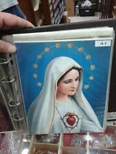 1 STAMPA 26x20 CM madonna maria sacro cuore su cartoncino photos on cardboard