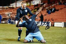 Inglaterra Marvin sordell mano firmado 11/12 Foto 12x8 1.