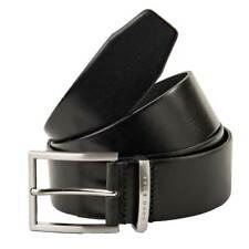 Hugo Boss Men's Belt, Buddy, Real Leather with Metal Buckle, Logo - Black