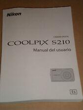 NIKON S210 MANUAL DE USUARIO ESPANOL BOOKLET  FOR DIGITAL CAMERA'S