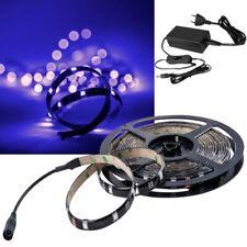 (6,98€/m) 2,5m / 5m Led Stripe Komplett-SET 230V UV-schwarzlicht Licht-Streifen