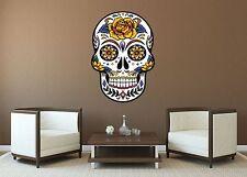 MEXICAN SUGAR SKULL TATTOO DESIGN ROSE CALAVERA WALL STICKER decal art 5 sizes