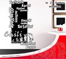 Wandtattoo Wandaufkleber Küche Chili Nudeln Evolution 571