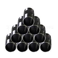 Black Steel Nipple, Threaded Pre Cut Pipe Connectors, 1-1/4'' D. (10 Pack/Medium