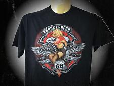 Knucklehead, T-Shirt Avec Un Harley Moteur, m-5xl, old school, pin up, surdimensionnées
