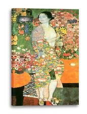 Lein-Wand-Bild Kunstdruck: Gustav Klimt - Der Tanz (1918)
