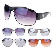 Mens Lion Logo Luxury Rectangular Thick Arm Fashion Designer Aviator Sunglasses
