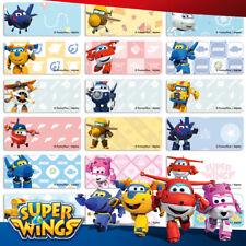 96+36 FREE Super Wings Personalised Name Label Sticker Dishwasher Safe