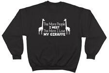 The More People I Meet the More I Love my Giraffe Mens Womens Jumper Sweatshirt