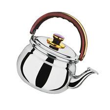 Stainless Steel Whistling Teapot Teakettle Tea Coffee Pot Kettle Metal Silver