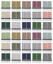 "Classic Plaid Kitchen Curtains 2 Panel Set Window Drapes 55"" X 39"""