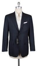 $7500 Kiton Dark Blue Cashmere Solid Sportcoat - (MW)