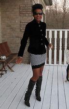 New Couture Black Label Armani Black Velvet & Lace Jacket Coat $3750 Sz 38 2-4