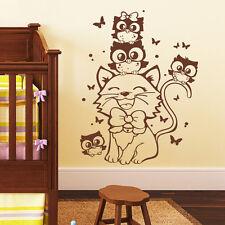Wandtattoo Loft Wall Stickers Cat Owl Little Owls Owl Owl Wall Tattoo 10586