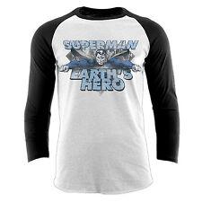 Official DC Comics Superman Long Sleeve Unisex Crew Neck Superhero T-shirt