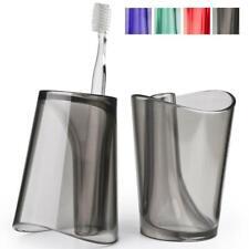 Design Zahnputzbecher mit Zahnbürstenhalter Ø 8 Acryl transparent für Zahnbürste