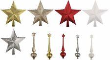 DECORAZIONI per albero di Natale in Oro Rosso Bianco Argento & Champagne Star Tree Topper