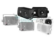 "Pyle Marine Audio PLMR24 3.5"" 200 Watt 3-Way Weatherproof Mini Box Speaker"
