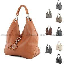 Damentasche Handtasche Shopper ital. Ledertasche Schultertasche Nappaleder LN033