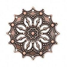 Copper Pendants Steampunk Victorian Antiqued Focal Medallion Lot of 4
