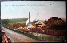 FORT SMITH AR 1900s CARGO TRAIN*UNITED WALNUT LUMBER Co