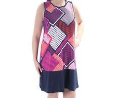 Tommy Hilfigher NWT Modern NAVY MULTI Geometrical print Dress ,size 6